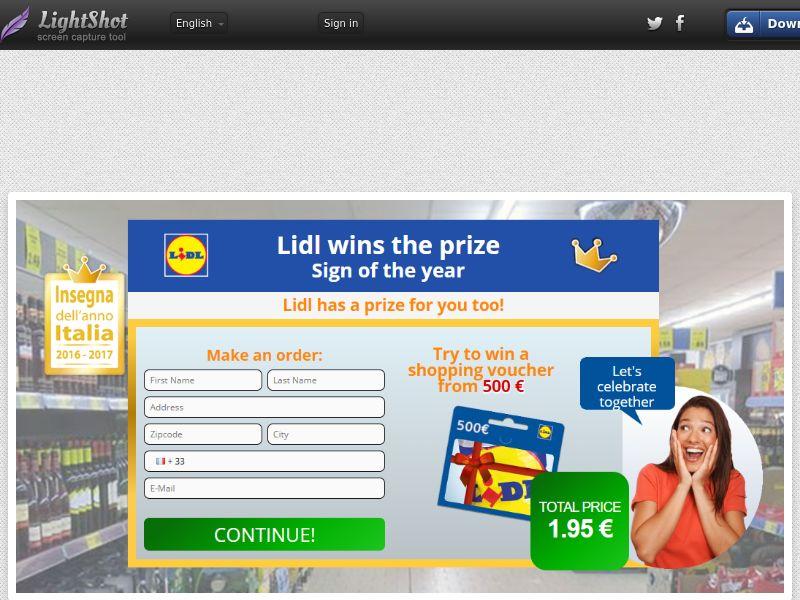 Plat Premium Lidl (Sweepstake) (CC Trial) - France
