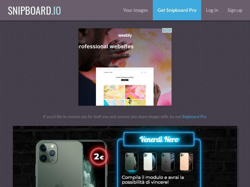 BigEntry - Black Friday iPhone 11 Pro v1 IT - CC Submit