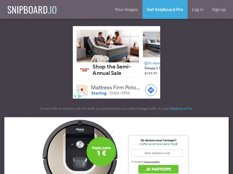 BundleShopping - iRobot Roomba FR/BE - CC Submit