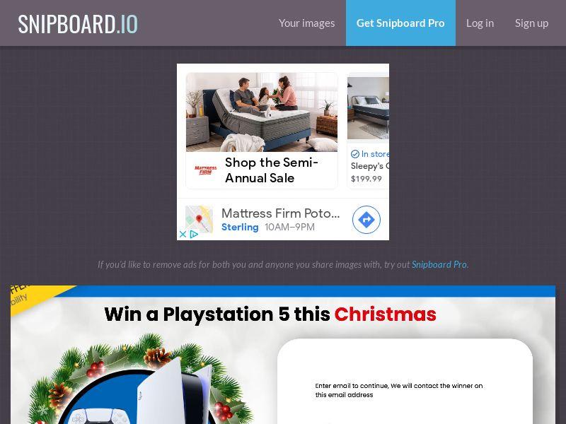 YouSweeps - Win a playstation 5 christmas AU - SOI