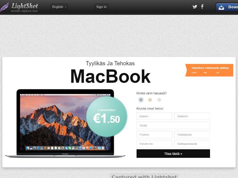 winlotsofthings MacBook 3 Colors (Sweepstake) (CC Trial) - Finland