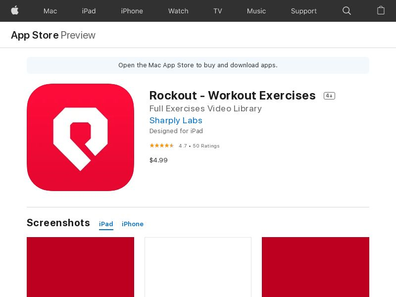Rockout Workout - UK - iOS - CPI