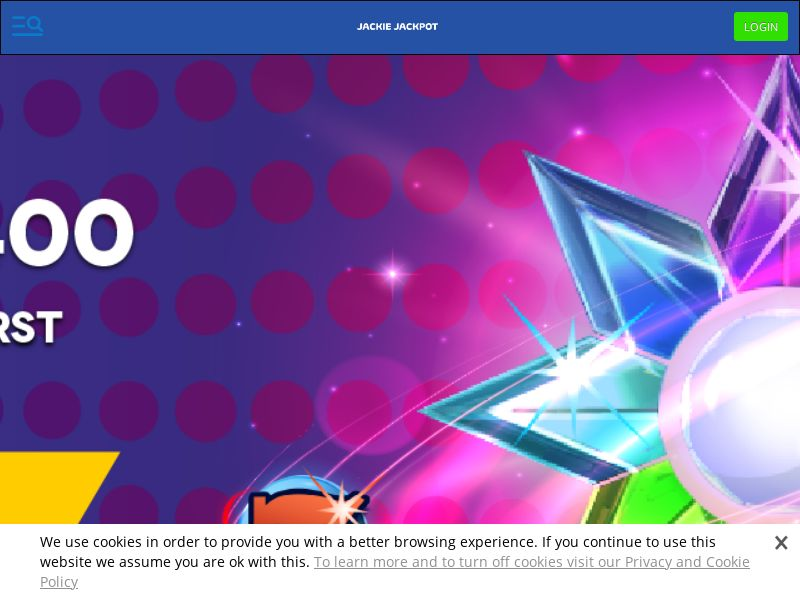 Jackie Jackpot Casino - Exclusive offer STAR400 - CPA | NZ, IE, SLO