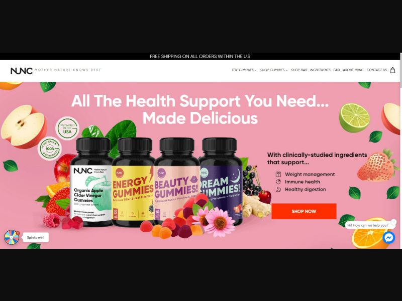 Nunc Store - Health - SS - NO SEO - [US]
