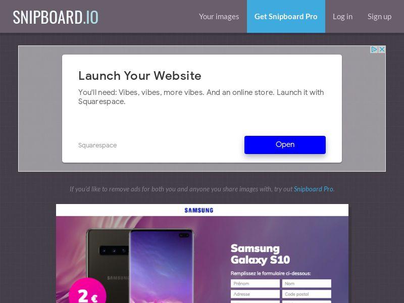 BigEntry - Samsung Galaxy S10 v4 FR - CC Submit