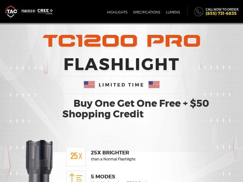 1Tac TC1200 Flashlight - GLOBAL [DIREC T]