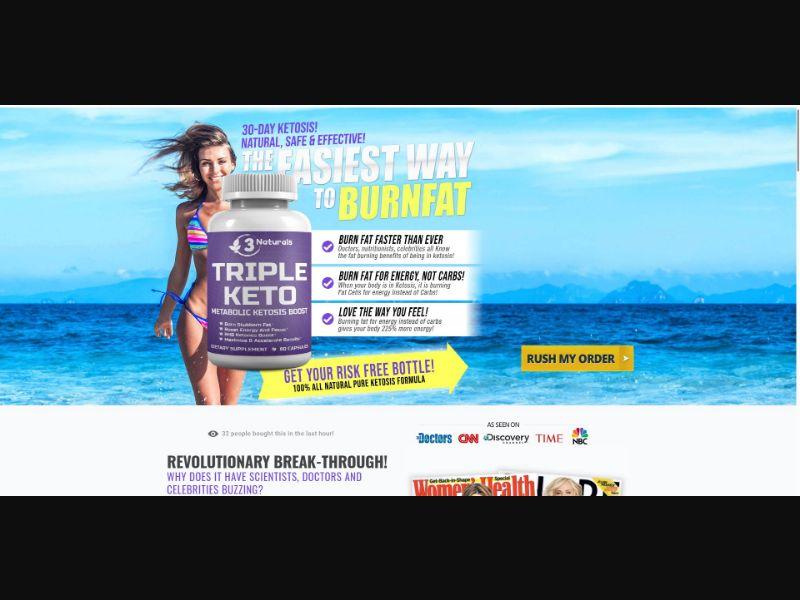 3 Naturals Triple Keto - Diet & Weight Loss - SS - [US]