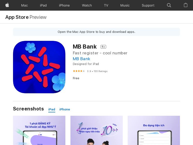 MB Bank - iOS - VN - CPA - (KPI: See Campaign Details) - Incent & Non-Incent OK