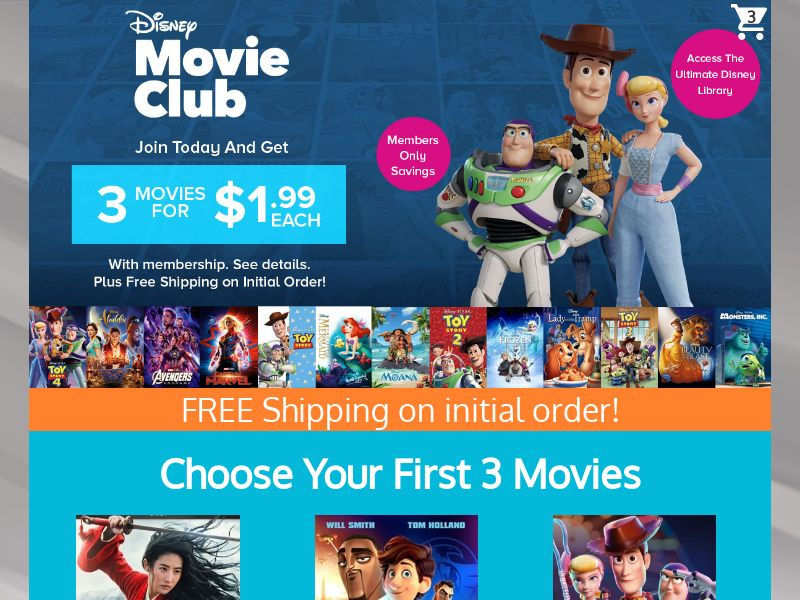 Disney Movie Club - US - Incent Allowed