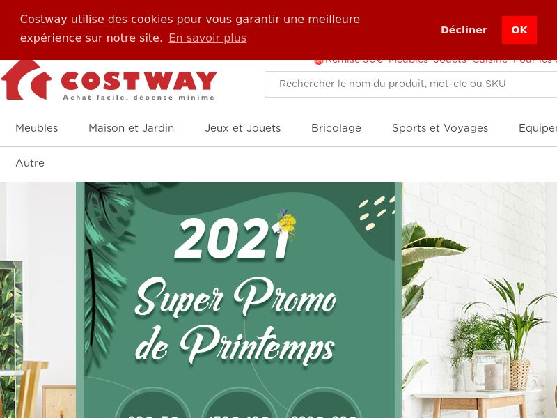Costway - FR (FR), [CPS], House and Garden, For children, Furniture, Household items, Animals, Home decoration, Garden, Appliances and Electronics, Audio and video, Household goods, Sport & Hobby, Fashion, Clothes, Sell, shop, gift