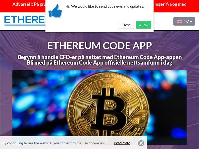 Ethereum Code App Norwegian 3288