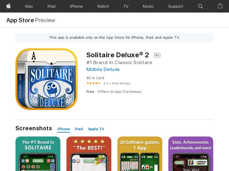 Solitaire Deluxe Social - iOS - INCENT - US