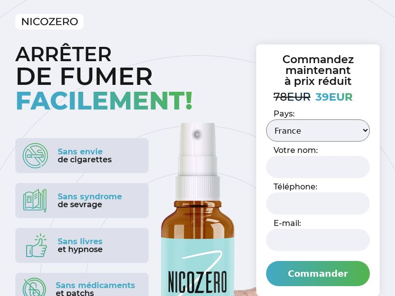 NicoZero FR - treatment for smoking