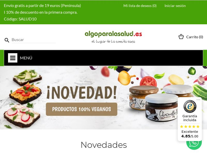 Algo para la salud - ES (ES), [CPS], Health and Beauty, Cosmetics, Supplements, Food, For animals, Sell, coronavirus, corona, virus, keto, diet, weight, fitness, face mask