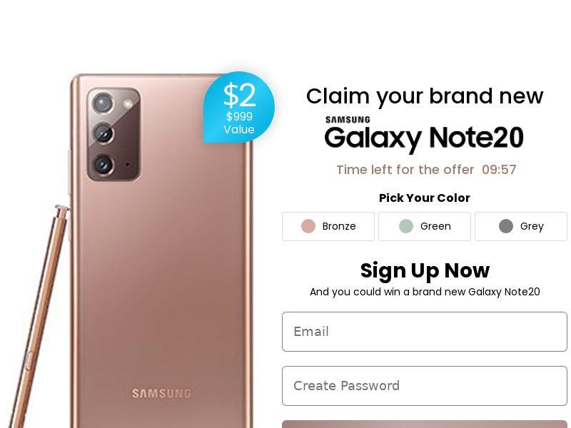 9241) [WEB+WAP] Win Galaxy Note 9 - NZ - CPA cc submit