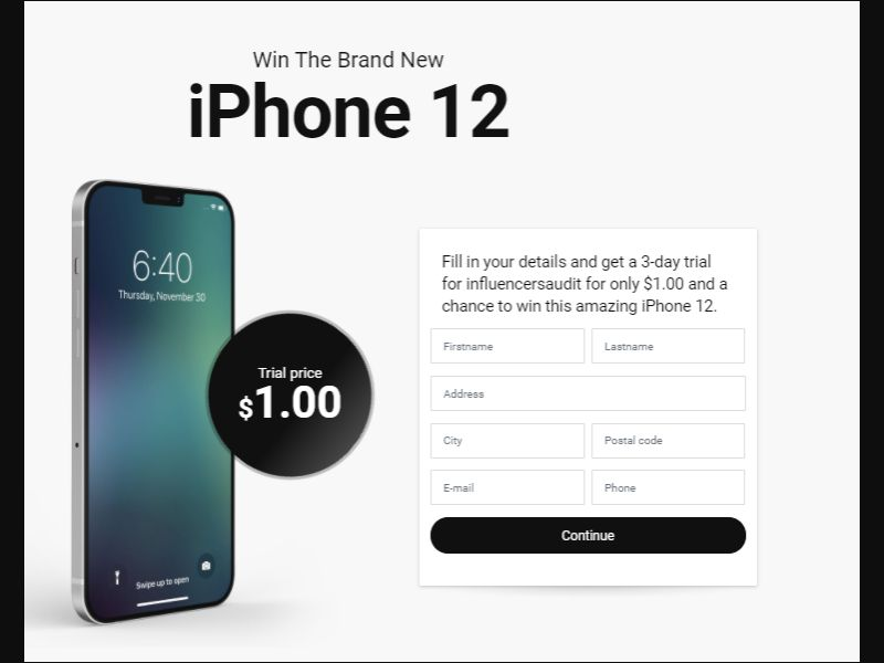 iPhone 12 - CC submit [US] - CC Submit