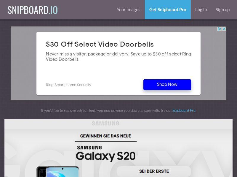 MagnificentPrize - Samsung Galaxy S20 DE - CC Submit