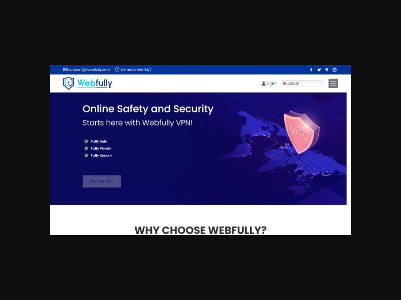 Webfully VPN - Free Trial (WW)