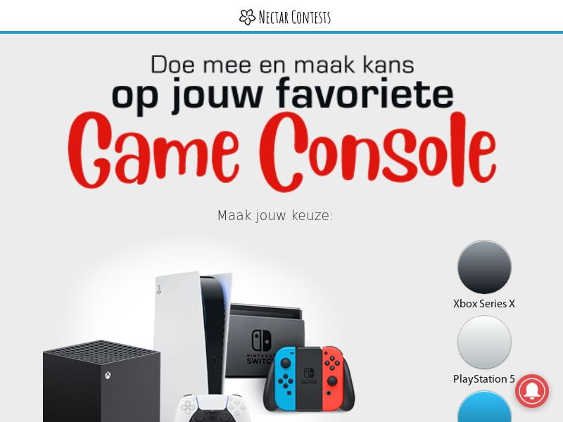 NectarContests - Gaming Console - NL