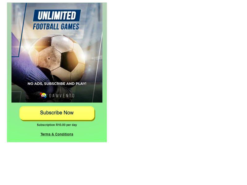 UnlimitedFootballGames Vodacom