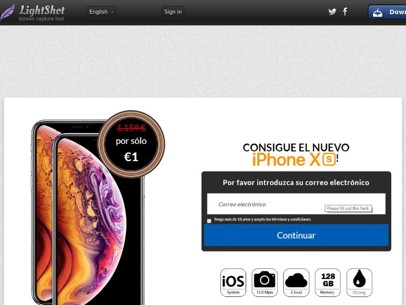Getup Live iphone Xs (Sweepstake) (CC Trial) - Spain [ES]