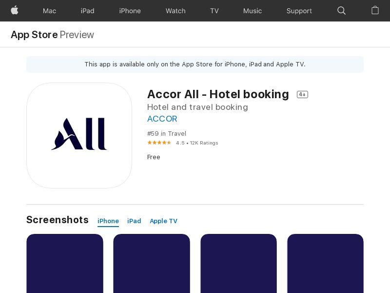 Accor all UK iOS IDFA