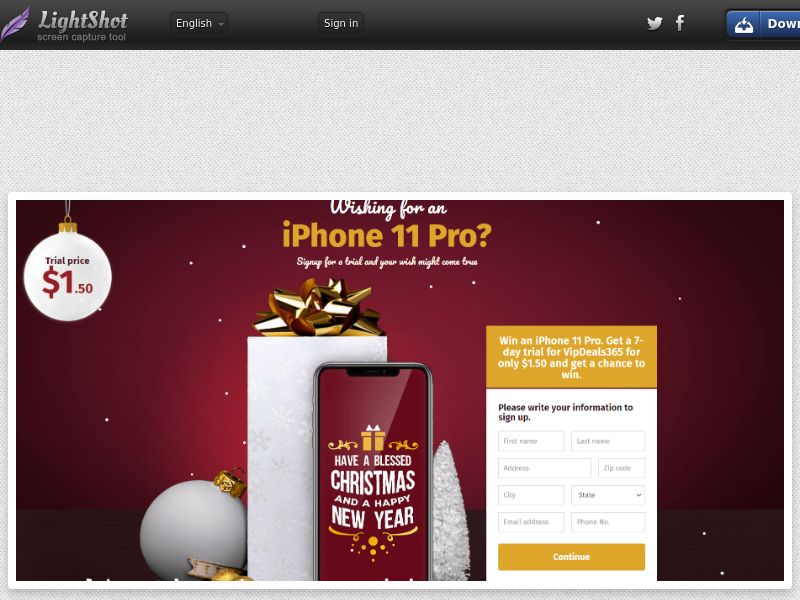 Winlots iPhone 11 Pro Christmas (CC Trial) - United States