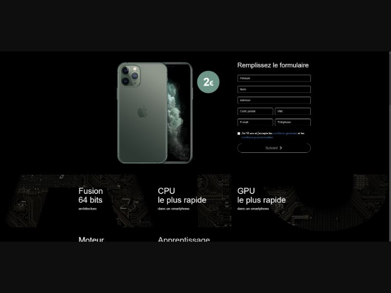 iPhone 11 Pro Max - Sweepstakes & Surveys - Trial - [FR]