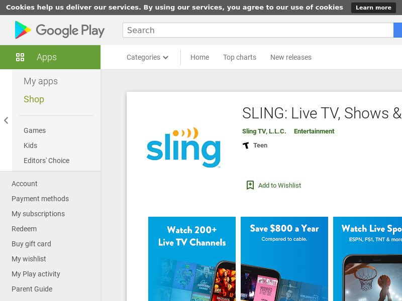 Sling TV - Android - US - (CPE= paid sign up)