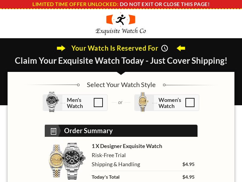 Exquisite Luxury Watch (Trial) (US) (Survey Allowed)