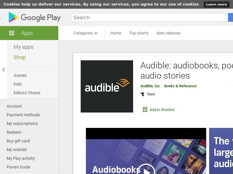 Audible Android IT CPE=gold trial taken *Affilitest blocked*