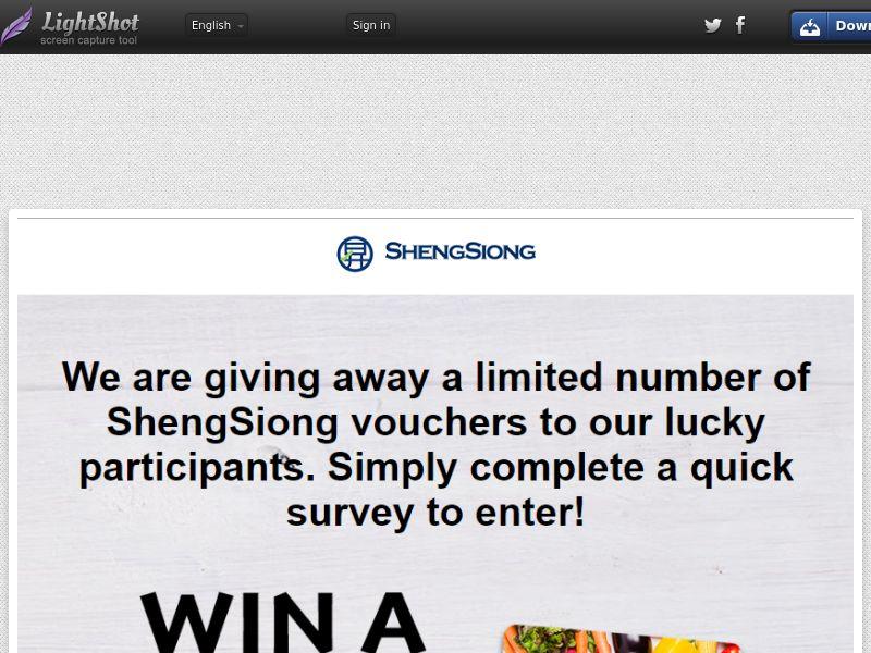 SG | SOI | Shengsiong | Sweepstake