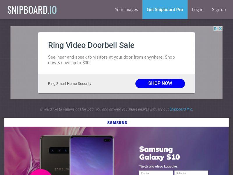 BigEntry - Samsung Galaxy S10 v4 FI - CC Submit