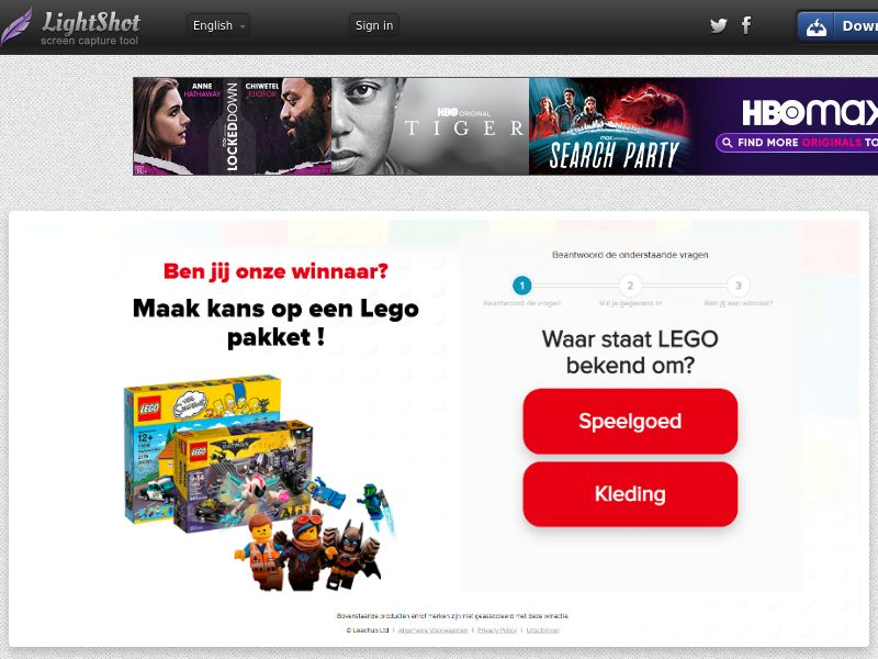 OnlineWinAction - Lego (NL) (CPL) (Personal Approval)