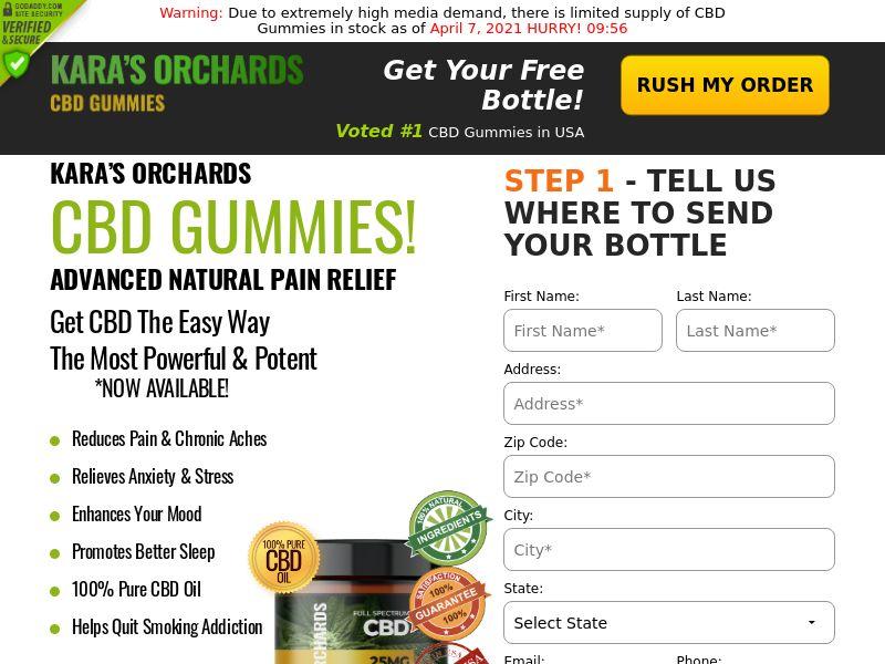Kara's Orchards cbd Gummies (CPA) (US)