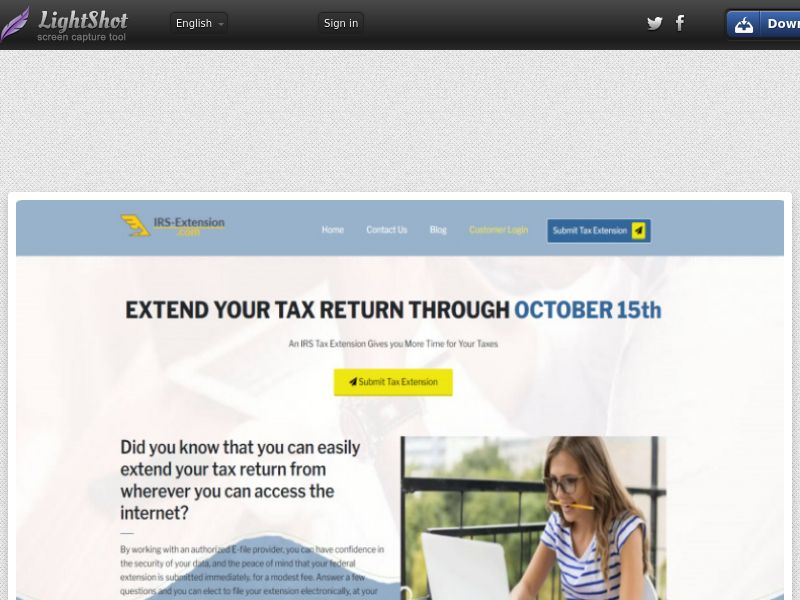 IRS Tax Extension.com (US) (CPL) (Email, Push) (Personal Approval)