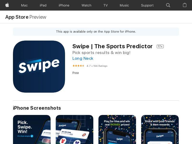 Swipe | The Sports App IOS CA Appname