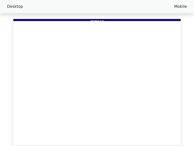 Sweepstake ALDI 300$ voucher - CPL/SOI [AU]