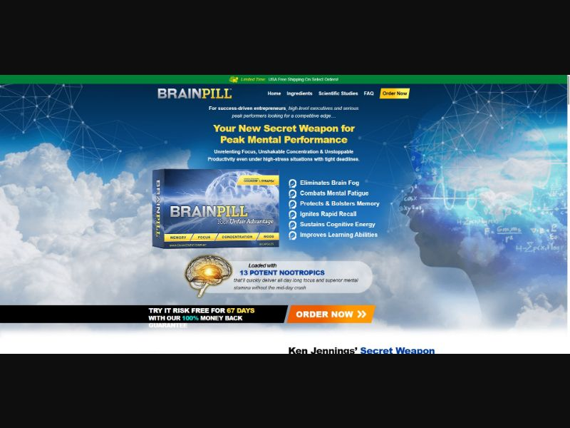BrainPill - Brain Enhancement - SS - [GEOs with exceptions]