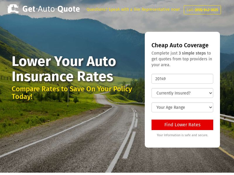 Get Auto Quote Zip Submit [MON-FRI Only] - US