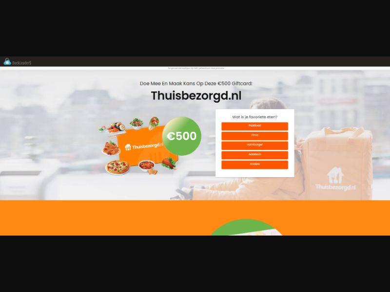 NL - Win Thuisbezorgd.nl Gift Card [NL] - SOI registration