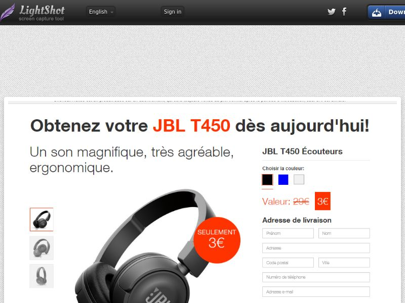 JBL Headphones Giveaway - Trial - FR