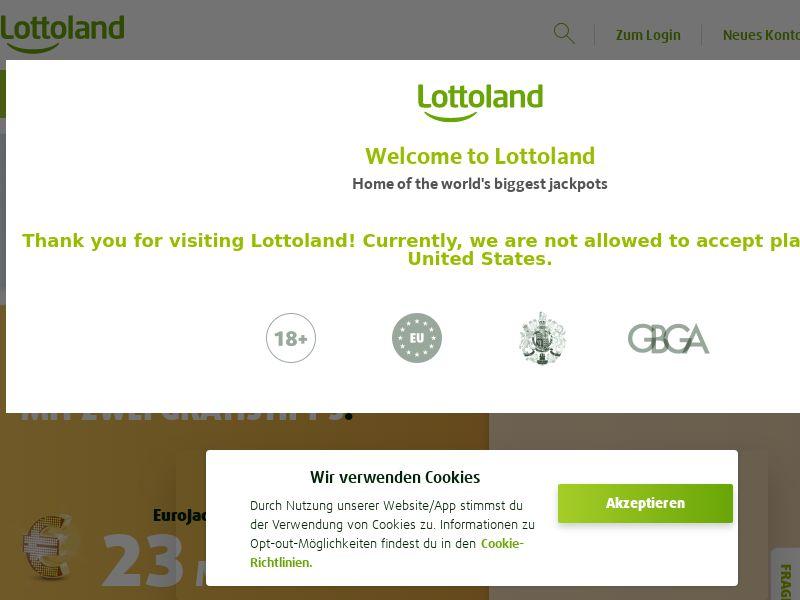 Lottoland - DE (DE), [CPA], Gambling, Lotto, Deposit Payment, million, lotto