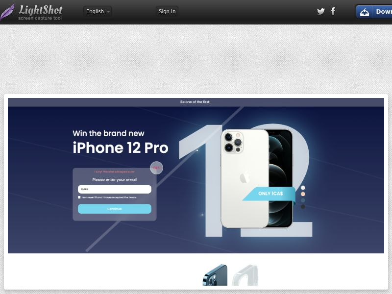 AdCenter Sweepstakes (iPhone 12 Pro - Version 2) - CPA, CC Submit, Multi-Geo