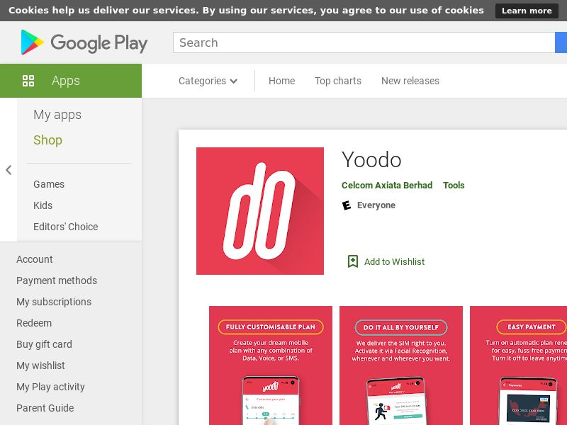11 Yoodo Android MY (CPE=sim activation)