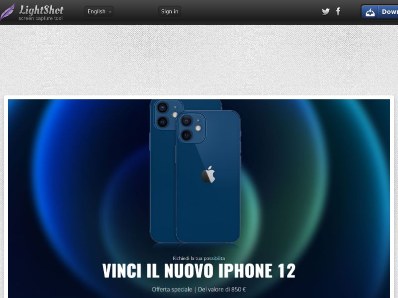 LeadMarket - iPhone 12 (IT) (CPL) (Personal Approval)