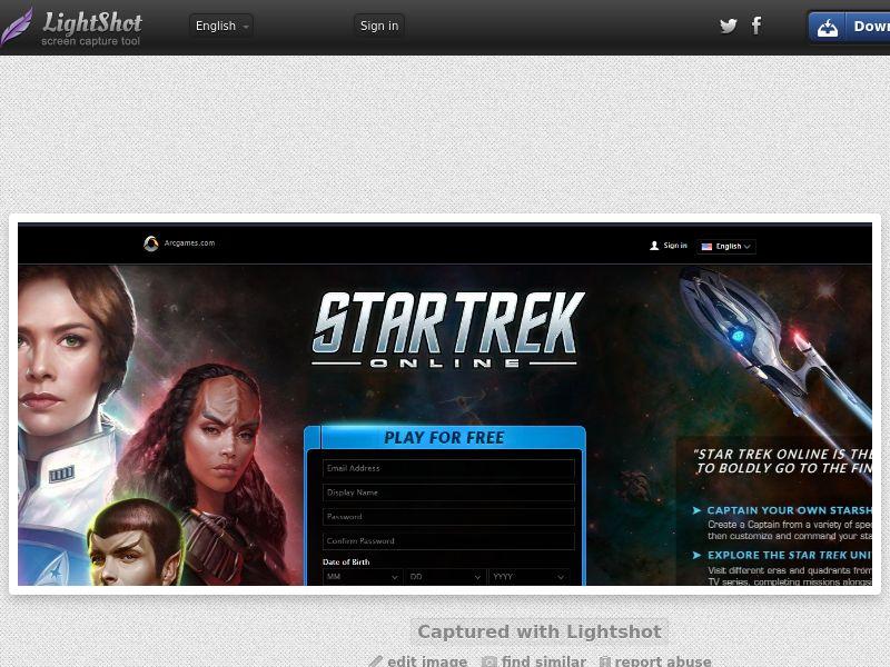 Star Trek Online (US, CA, UK, AU, NZ) (CPL) (Personnal Approval)