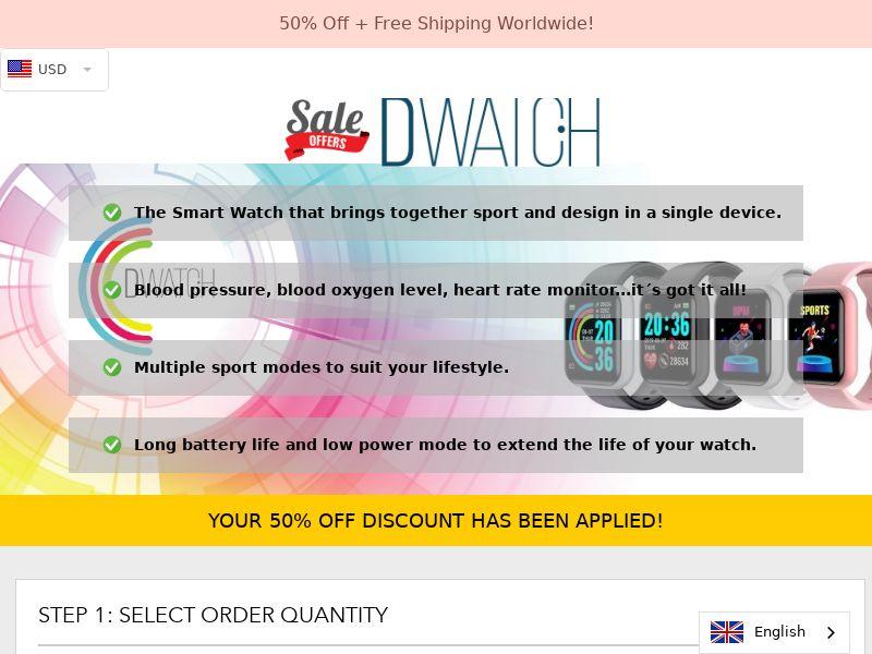 DWatch - Designed Smart Watch - CPA - [INTERNATIONAL]