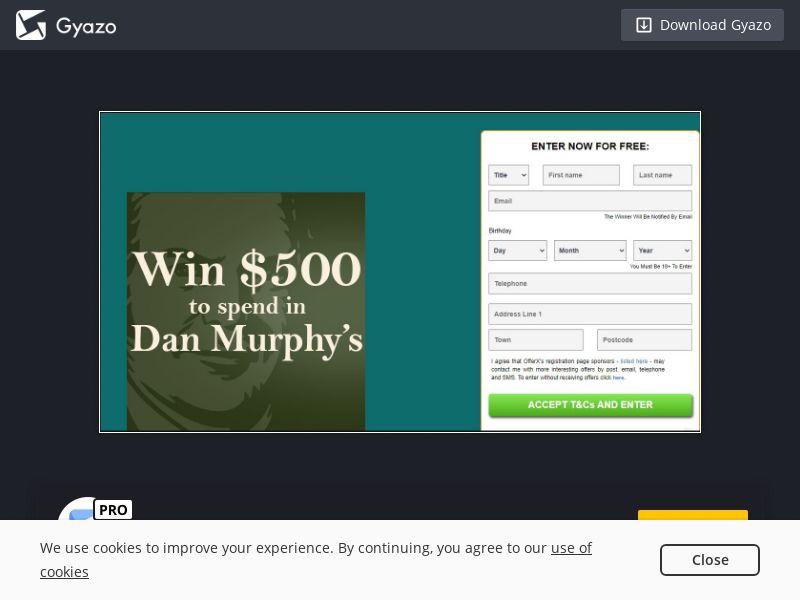 Win $500 to spend in Dan Murphy's (AU) (CPL)