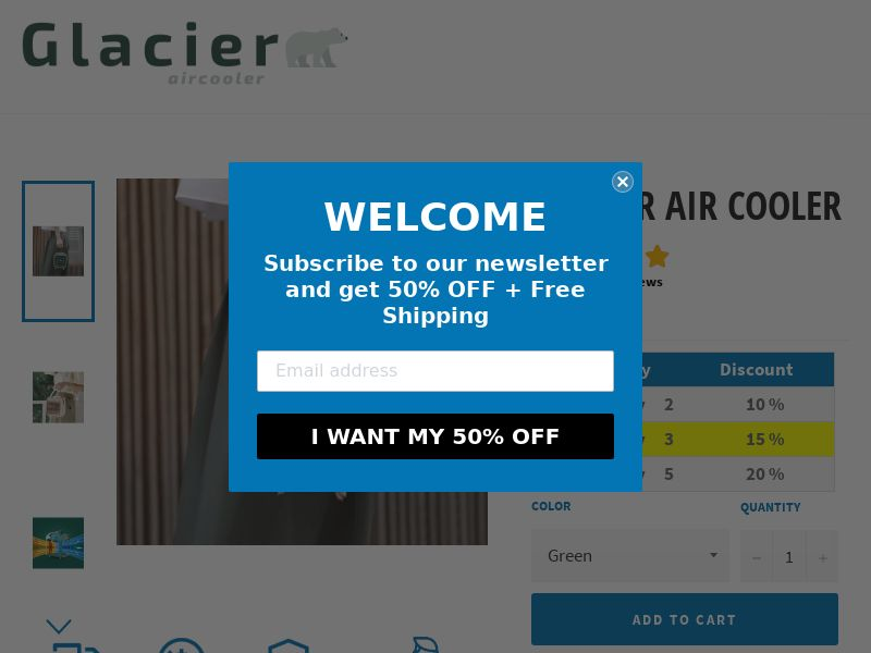 Glacier Air Cooler - Summer Gadgets - CPA - [22 GEOs]